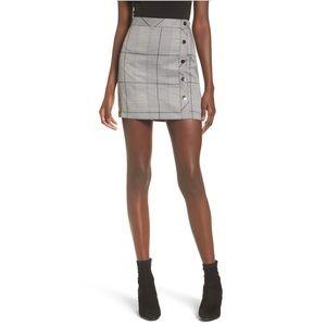 JOA Button Front Mini Skirt
